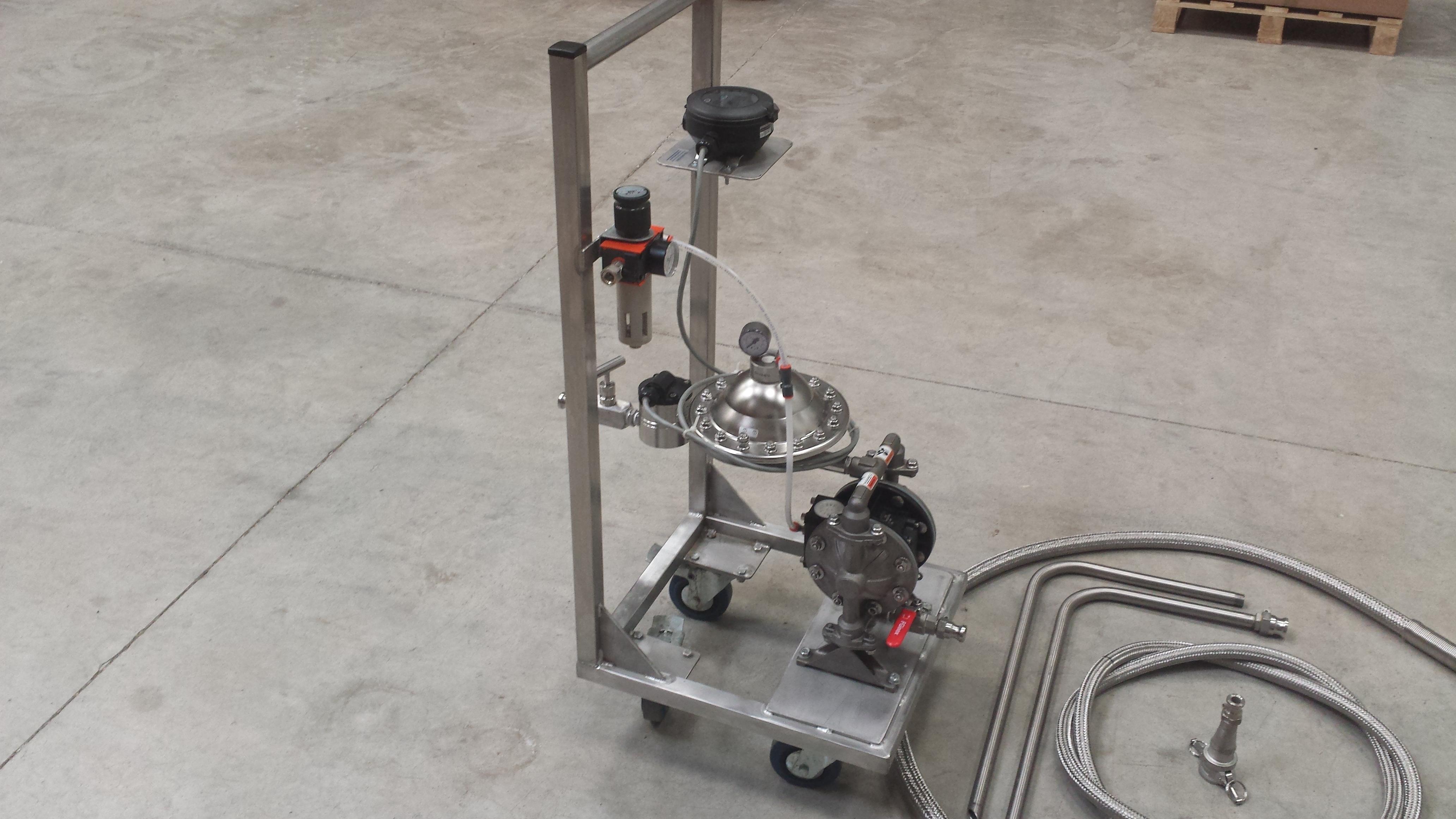 chariot dosage pompe membranes b