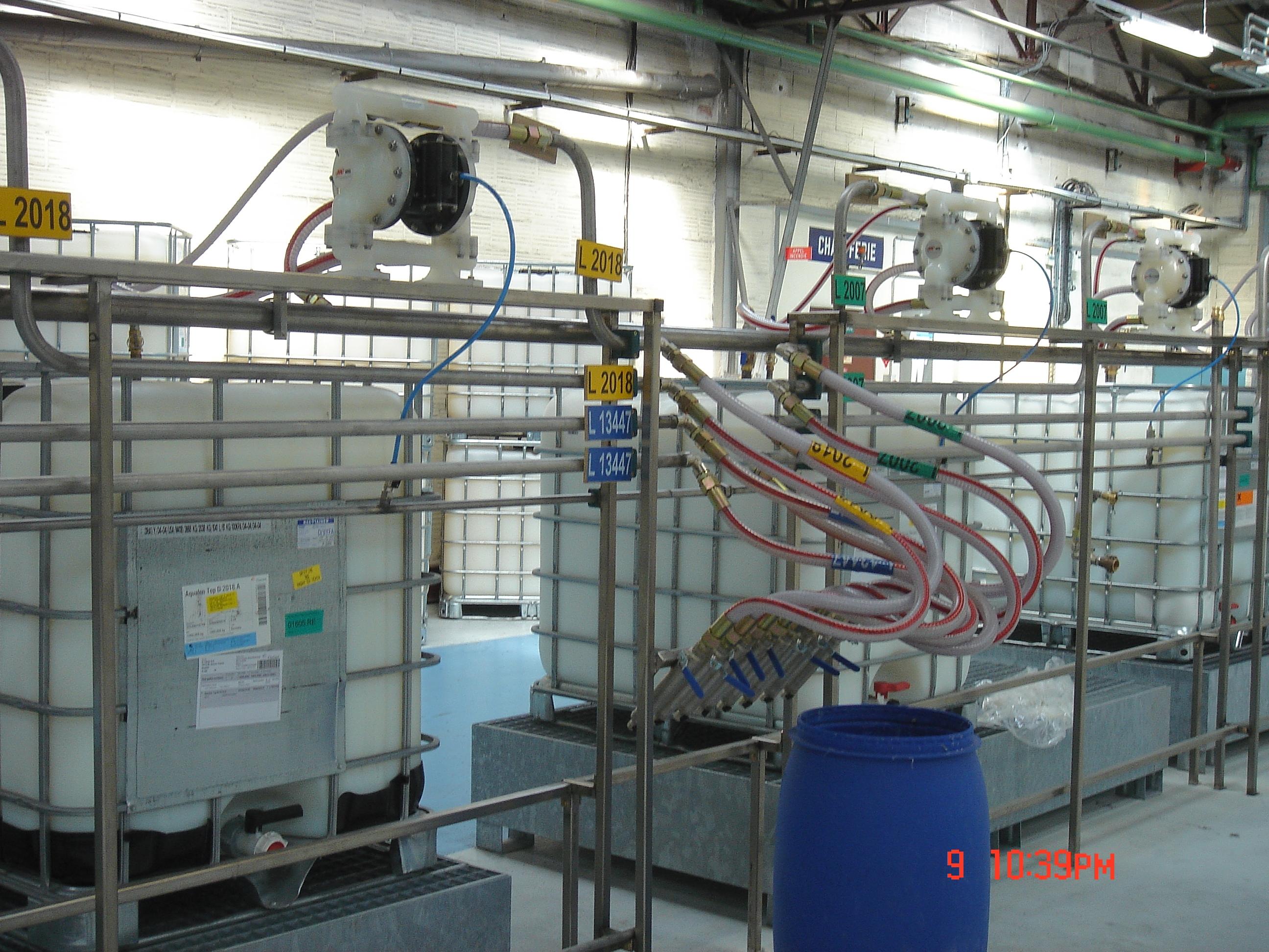 pompes pneumatiques aro - station de dosage - mélange et agitation